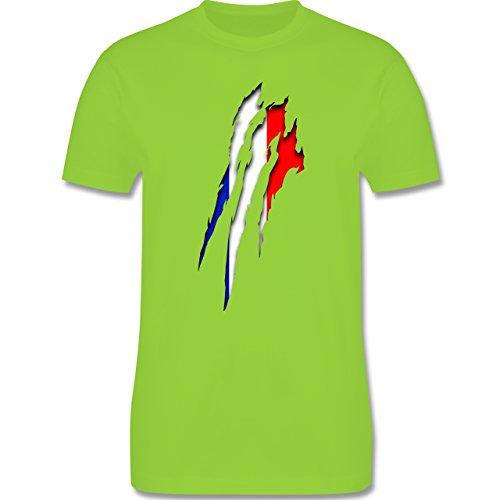 Länder - Frankreich Krallenspuren - Herren Premium T-Shirt Hellgrün