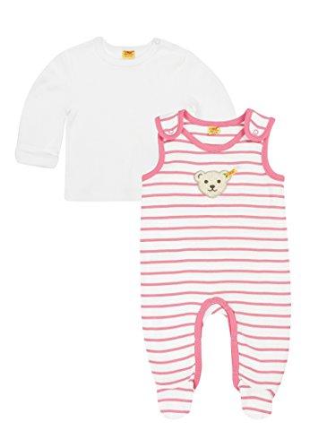 Steiff Baby-Mädchen 2tlg. Set Strampler o. Arm + T-Shir, Rosa (Hot Pink 2610), 68