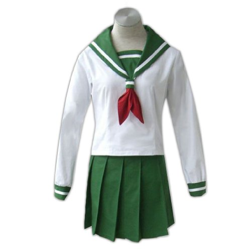 Inuyasha Kagome Kostüm - Dream2Reality japanische Anime InuYasha Cosplay Kostuem -Higurashi Kagome Winter School Uniform Small