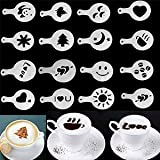 #3: MagnusDeal® 16pcs Creative Nice Coffee Barista Stencils Template Strew Pad Duster Spray Art (Random Style)