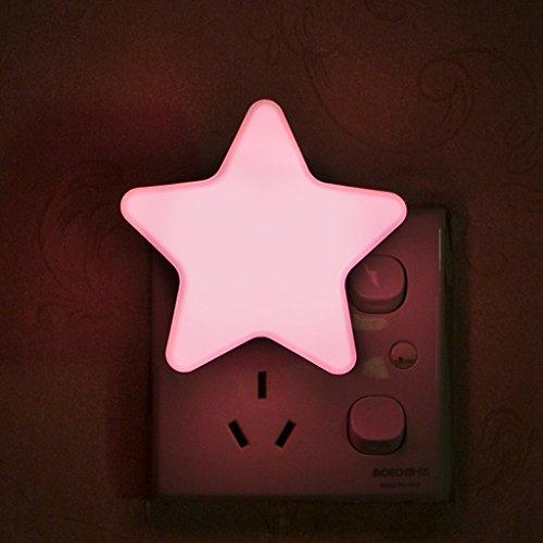 LQZ Stern Nachtlicht LED Lampe Light Kinderzimmer Babyzimmer Kindergeburtstag Party Mitgebsel 6,5cm