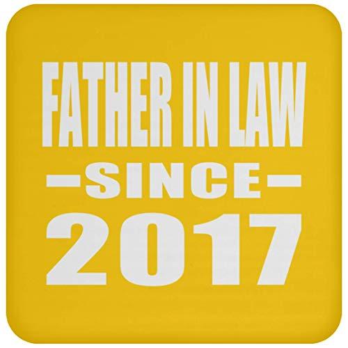 (Designsify Untersetzer mit Aufschrift Father in Law, Rutschfeste Unterseite aus Kork, mit lustigem Gag Geschenk für Geburtstag, Weihnachten, Jahrestag, Athletic Gold, Einheitsgröße)