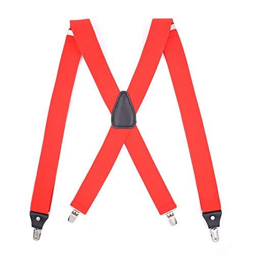 Absturzsicherung 4-Punkt Auffanggurt Fallschutz Geschirr Safety Dachdeckerset Fallsicherung mit Rückenstütze, Rot