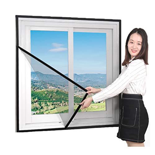 ALSGON Magnet Fliegengitter Fenster,ZuverläSsiger Schutz Vor MüCken, Fliegen, Insekten Und Ungeziefer Insektenschutzgewebe FüR Fenster Und TüRen Meterware,Gray,140x160cm(55x63in) (63 Lange Gardinen)
