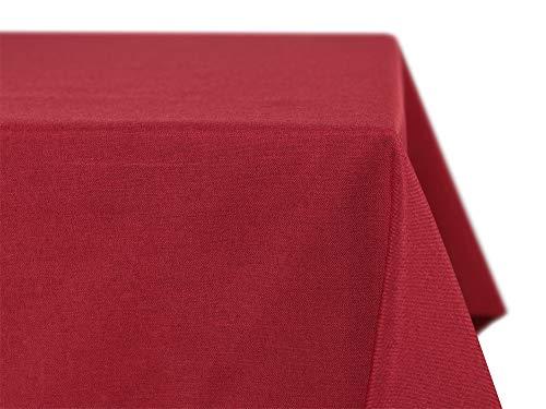 Beautex Tischdecke Leinen Optik, bügelfrei mit Lotuseffekt, Eckig Oval Rund Größe und Farbe...