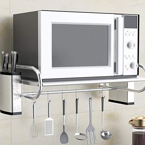 WXP Kitchen furniture - Edelstahl-Küchenregal-Mikrowelle-Rack-Wandmontage-Haushaltshalterung -Küchenschränke und Besteckschränke (größe : 53X35.5X19CM) (Utility Küchenschrank Schrank)