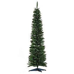 Homcom, albero di Natale slim da 180 cm con 390 rami