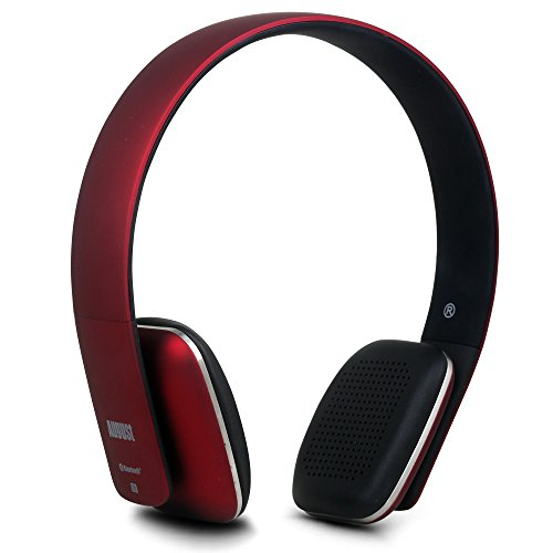 I Phone Funk-kopfhörer 6 (August EP636 - Bluetooth v4.0 NFC Kopfhörer - mit Freisprechfunktion und integriertem Akku (rot))