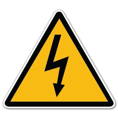 INDIGOS UG Aufkleber Autoaufkleber JDM Die Hart - High Voltage Danger Warning Sign Sticker Decal 127mmx127mm -