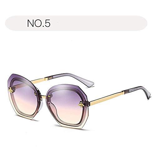 XHCP Frauen polarisierte Klassische Fliegersonnenbrille, Sonnenbrille für Frauen verdünnen 100% UV-Schutz 400 Schutz, der Gläser im Freien fährt (Farbe: NO.5, Größe: freie Größe)