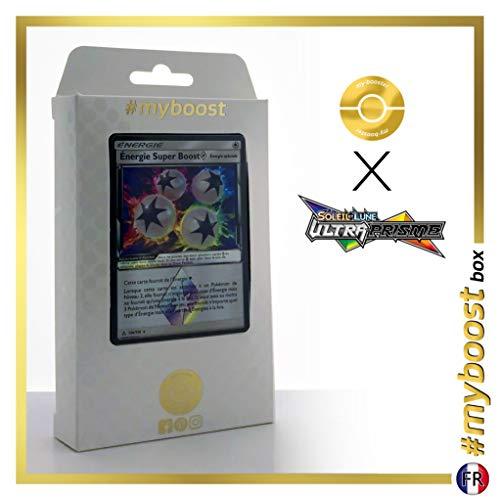 Energie Super Boost (Super-Antriebs-Energi) 136/156 Holo-Prisma - #myboost X Soleil & Lune 5 Ultra-Prisme - Box mit 10 Franzosische Pokémon-Karten (Energy Pokemon Switch)