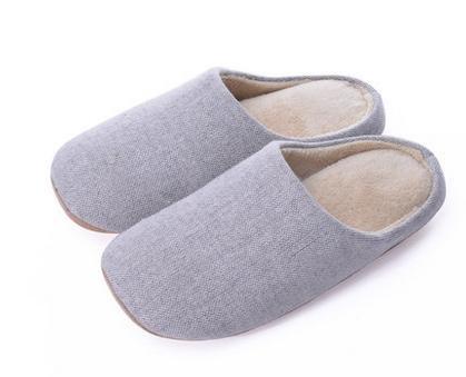 Indoor pantofole mute, in autunno e inverno, uomini e donne a casa casa pantofole di cotone morbido fondo , men blue female light gray