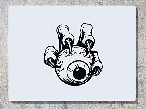 Come Buy With Me Augapfel Hand Monster Gruselig Halloween - Autotür Auto-Aufkleber Spruch Logo Schild Wanddekoration Aufkleber Bild Andere Größen Erhältlich Kariert ()