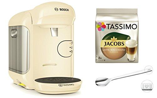 Bosch TASSIMO VIVY 2 + WMF Löffel +TDISCs Latte Macchiato classico Heißgetränkemaschine (Creme)