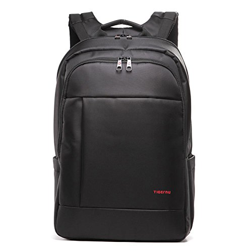 Tigernu Laptop Rucksack 17.3 inch Laptop Waterproof Resistant Anti-Theft Zip School Business Backpack Bags-Black