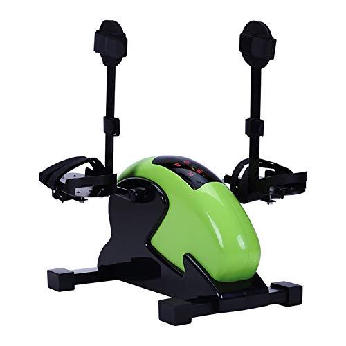 Xylucky mini cyclette da palestra, pedale da palestra, bracciale da palestra fitness cardio training resistenza regolabile con display lcd per donna e uomo,a