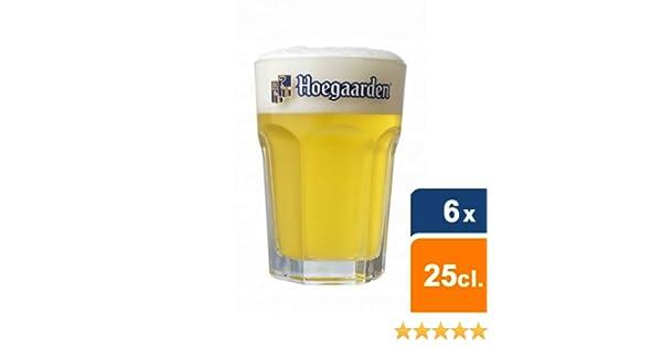 6 verres à bière blanche Hoegaarden 25cl 6 sous bocks