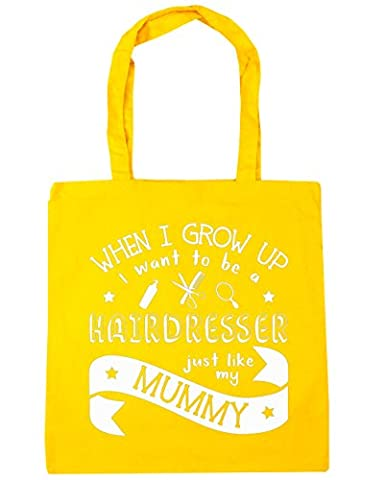 HippoWarehouse When I Grow Up I Want to be a Hairdresser Just Like My Mummy Tote Shopping Gym Beach Bag 42cm x38cm, 10 litres