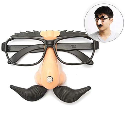 Ungfu Mall Funny Plastic Nase Schnurrbart Clown Brille Halloween Party Supply