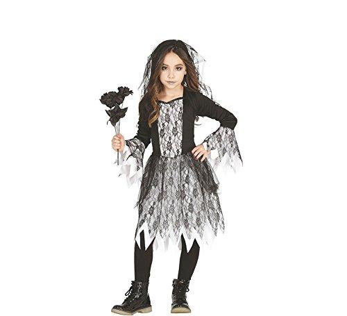 Geister Mädchen Kostüm für Kinder Gr. 98 - 146, Größe:128/134