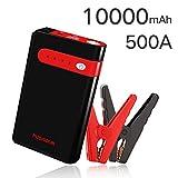 Booster Batterie 10000mAh 500A Car Jump Starter pour 2.5L Gaz avec Charge USB et SOS