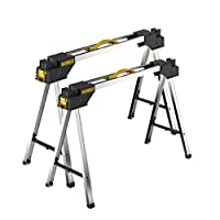 2x DeWalt DWST1-75676 Heavy Duty Metal Portable Saw Horse Work Support Stand