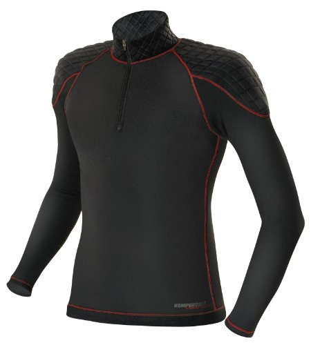 Komperdell Herren Skiunterwäsche First Layer Shirt, schwarz, L, 6093-02