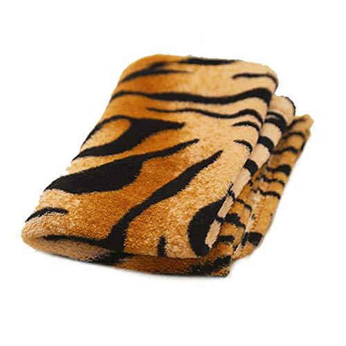 Tiger Haar Kostüm - NaiCasy Multi Use Tiger-Muster Hundedecke Soft Skin Texture Hundematte warme Flanell Hund Teppich (90 * 70cm), kleine Waren für Haustiere
