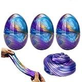 Luclay Galaxy Slime Slime con 3 Contenedores en Forma de Huevos y Remolino de Stress Relief DIY Juguetes para niños Adultos