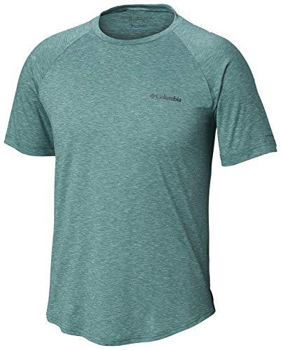 Columbia Men's Tech Trail II Short Sleeve Crew Shirt, UPF 50 Protection, Moisture Wicking Fabric
