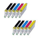 10x Tisanto kompatible Standard XXL Patronen für Epson Stylus SX 230, 235, 235 W, 435 W, 440 W, 445 W. - 4x BK, 2x Cy, 2x Ma, 2x Ye - Lstg: 13ml