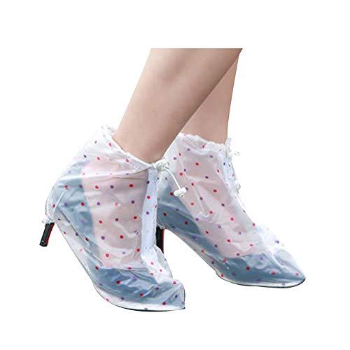 AWSAD 5 Packungen wasserdichte Schuhüberzieher Verstärkter Antirutsch-Sohle Strapazierfähig rutschfest Wiederverwendbar Perfekt Für Outdoor Regenschutz (Color : Clear, Size : XL)