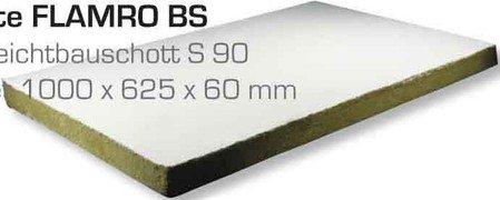 Flamro BS-Brandschutzplatte 50060 1000x625x60mm Brandabschottung 4250586101080