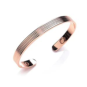 MiChic Copper Magnetic Ridged 8 mm Bangle