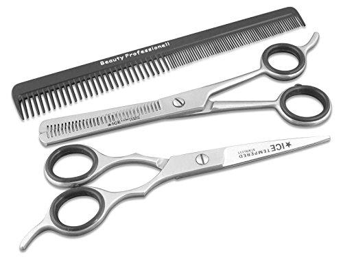 Haarscheren Set 15,24 cm mit Friseurschere - Effilierschere - Haarkamm