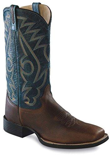 Old West Roperboots Carter Braun Blau | 44 (Western-cowboy-stiefel West Old)