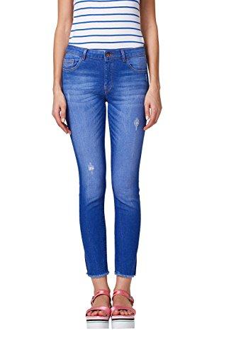 edc by ESPRIT Damen Skinny Jeans 028CC1B011, Blau (Bright Blue 410), 30/32
