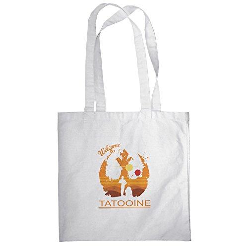 Texlab–Welcome To Tatooine–sacchetto di stoffa Bianco