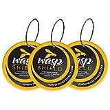 WASP SHIELD 3X Avispa Repelente Orgánico Insecticida Natural a Base de aceites Esenciales – Sin DEET ni Contacto cutáneo – Al