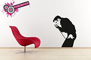 Elvis silhouette vinyl wall art graphic decal sticker by Vinylworld