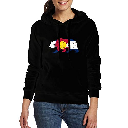 Natasha Scott Retro California Flag und Colorado Flag Frauen Adult Cotton Neuheit Hoodie Pullover mit Kapuze Sweatshirt - Adult Premium Hoodie