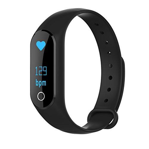 Yallylunn Smart Wrist Band Bluetooth Sleep Sport Fitness Activity Tracker Pedometer Watch Wasserdichtes Fitness Tracker Band Schlafmonitor SchrittzäHler
