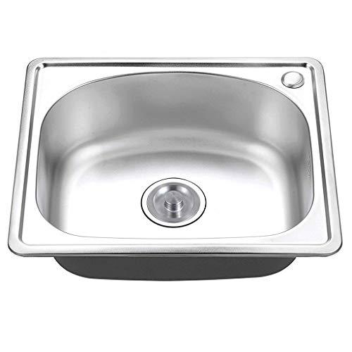 Kitchen Sink. Lavello Acciaio Inox 1.0 Lavello da Cucina Quadrato Singola Vasca per Montaggio sotto Il Montante sotto Il Montante 500x416x200 Lavelli