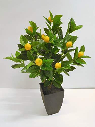 Zitronenbaum Zitronen Kunstpflanze Dekopflanze 75 cm getopft 3319005-00 F71