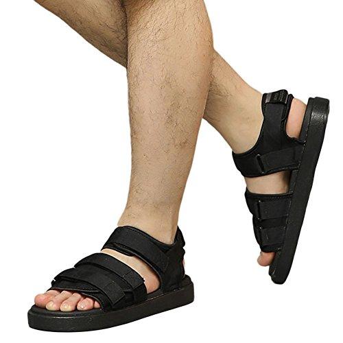 Meijunter Unisex Strap Einstellbar Sandalen Freizeit Draussen Anti-Rutsch Schuhe Weich Hausschuhe Schwarz
