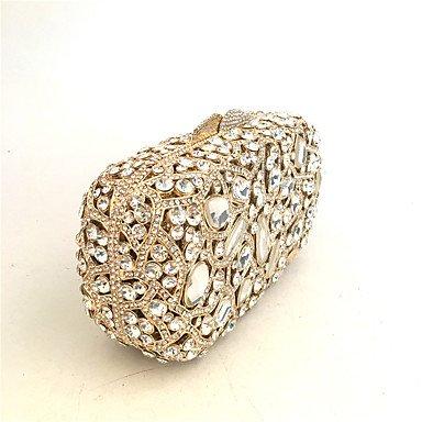 SUNNY KEY-Pochette e Clutch@Borsa da sera PU (Poliuretano) Metallo Senza cerniera Oro , gold gold