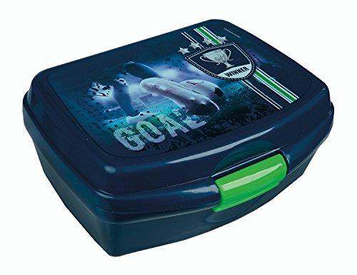Undercover FCPR9901 - Brotzeitdose Football Cup, ca. 13 x 17 x 6 cm, blau (Lunchbox Kinder-spiel)