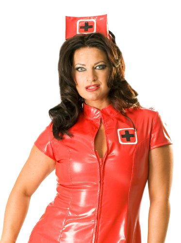 Honour-Womens-Dress-in-PVC-Red-size-UK-18-2XL