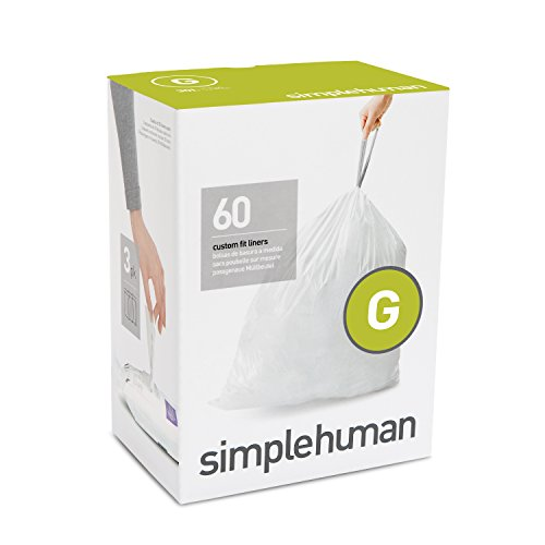 simplehuman-code-g-plastic-custom-fit-bin-liner-pack-of-60-white