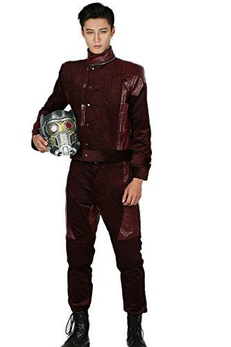 Groot Baby Kostüm (Halloween Cosplay Kostüm Erwachsene Herren Full Suit Fancy Dress Outfit Reddish Brown Jacke und)